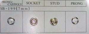 Prong Snap Button Pearl Button sb-199
